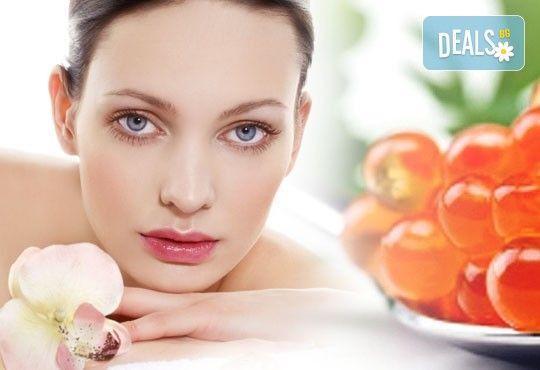 Луксозна терапия за лице и шия с натурален хайвер в 9 стъпки в център Енигма