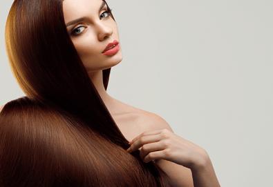 Терапия за коса с папая на Integrity Z.one и прическа при стилист с преса, букли със сешоар или дифузер в Wave studio-НДК! - Снимка