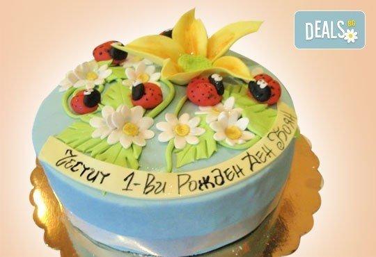 Цветя! Празнична 3D торта с пъстри цветя, дизайн на Сладкарница Джорджо Джани - Снимка 3
