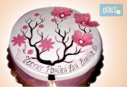 Цветя! Празнична 3D торта с пъстри цветя, дизайн на Сладкарница Джорджо Джани - Снимка 4