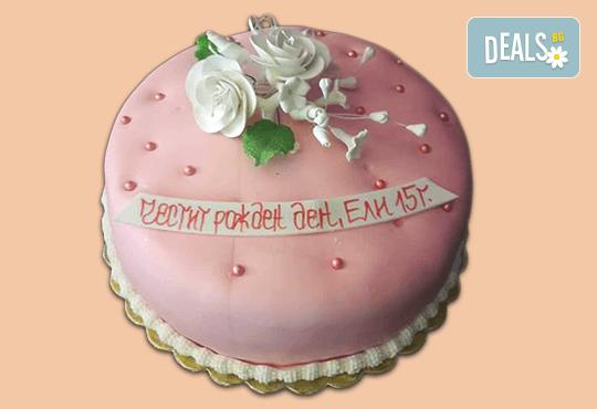 Цветя! Празнична 3D торта с пъстри цветя, дизайн на Сладкарница Джорджо Джани - Снимка 12