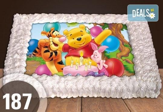 За най-малките! Голяма торта със снимка 20, 25 или 30 парчета за празника на Вашето дете с герой от филм от Сладкарница Джорджо Джани - Снимка 3