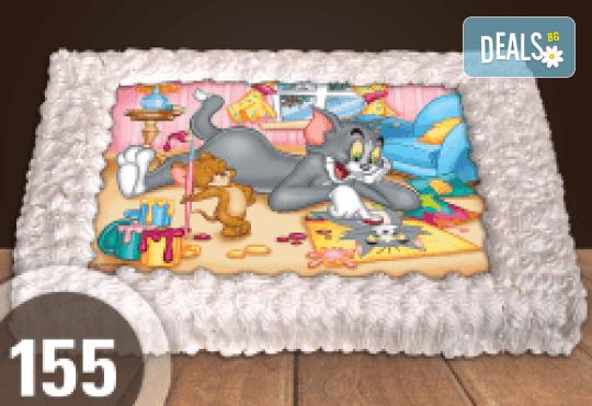 За най-малките! Голяма торта със снимка 20, 25 или 30 парчета за празника на Вашето дете с герой от филм от Сладкарница Джорджо Джани - Снимка 20