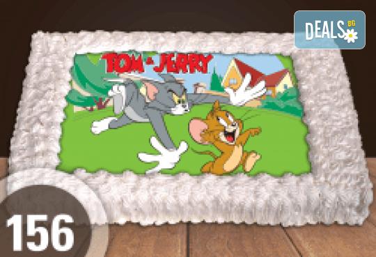 За най-малките! Голяма торта със снимка 20, 25 или 30 парчета за празника на Вашето дете с герой от филм от Сладкарница Джорджо Джани - Снимка 11