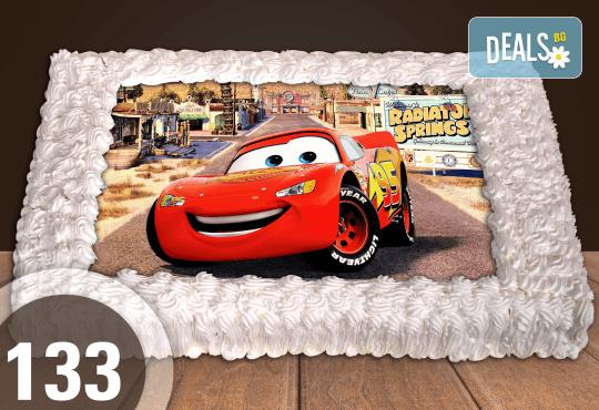 За най-малките! Голяма торта със снимка 20, 25 или 30 парчета за празника на Вашето дете с герой от филм от Сладкарница Джорджо Джани - Снимка 12