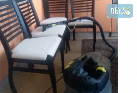 Пране на 6 седящи места на диван с професионални машини Karcher и препарати Sonax от фирма КИМИ - Снимка 7