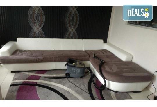 Пране на 6 седящи места на диван с професионални машини Karcher и препарати Sonax от фирма КИМИ - Снимка 8
