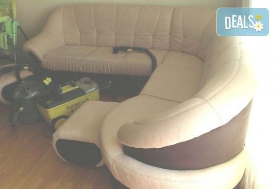 Пране на 6 седящи места на диван с професионални машини Karcher и препарати Sonax от фирма КИМИ - Снимка 9