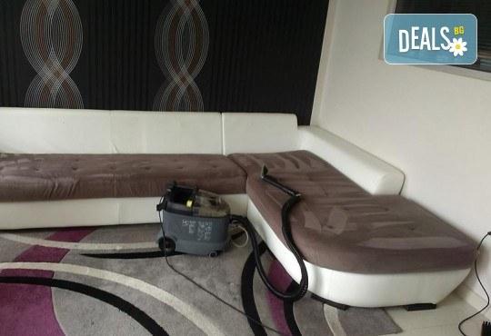 Пране на 6 седящи места на диван с професионални машини Karcher и препарати Sonax от фирма КИМИ - Снимка 10