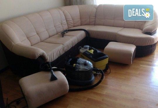 Пране на 6 седящи места на диван с професионални машини Karcher и препарати Sonax от фирма КИМИ - Снимка 11