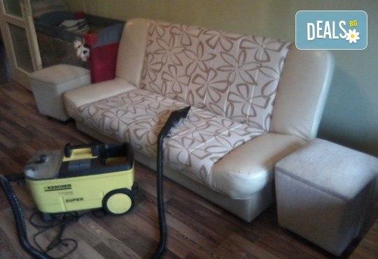 Пране на 6 седящи места на диван с професионални машини Karcher и препарати Sonax от фирма КИМИ - Снимка 6