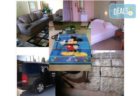 Пране на 6 седящи места на диван с професионални машини Karcher и препарати Sonax от фирма КИМИ - Снимка 4
