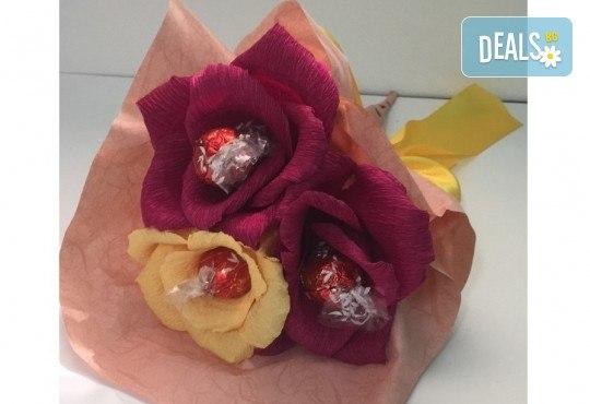 Подарете ръчно изработен букет с късмети, с тематика по избор и луксозен бонбон от Онлайн магазин за подаръци Банана! - Снимка 3