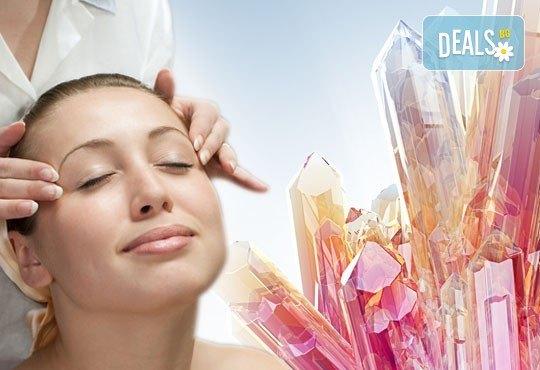 Дълбоко релаксиращ масаж на цяло тяло с кристали и масажни масла на френска био козметика Blue Marine, зонотерапия на стъпала и бонус: масаж на лице с кристали в Anima Beauty&Relax - Снимка 1