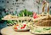 Вегетарианско изкушение! 60 броя хапки със зеленчуков пастет, моцарела, доматче, катък и печена чушка от My Style Event - thumb 1