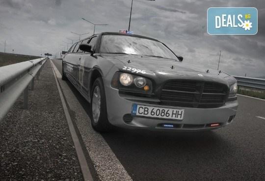 За моминско и ергенско парти! Луксозна холивудска лимузина Dodge Charger Interceptor SHERIFF с личен шофьор от San Diego Limousines - Снимка 2