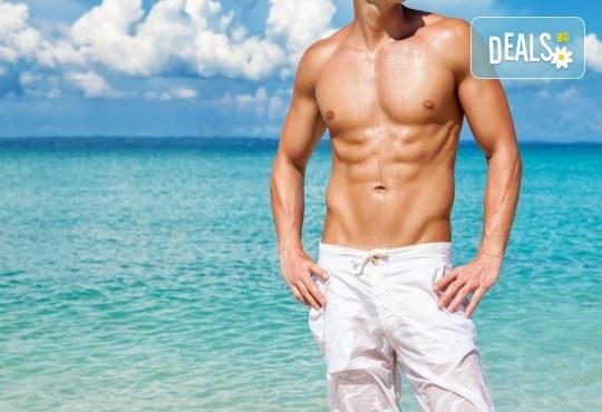 Лазерна епилация на гърди и корем за мъже, която може да се прави и през лятото! 1, 3 или 5 процедури, в салон за лазерна епилация MJ Aesthetic! - Снимка 1