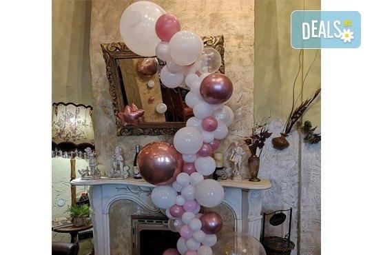 За Вашия специален повод! Елегантен водопад от балони + безплатна доставка и монтаж от Мечти от балони! - Снимка 4