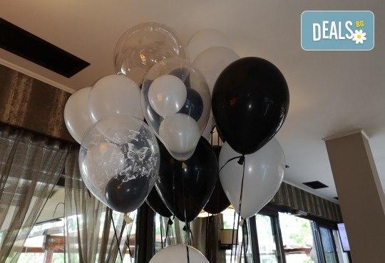 50 броя висококачествени латексови балони с хелий + безплатна доставка и аранжиране от Мечти от балони! - Снимка 7