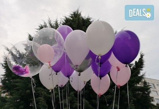 50 броя висококачествени латексови балони с хелий + безплатна доставка и аранжиране от Мечти от балони! - Снимка 3