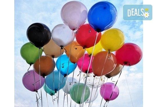 50 броя висококачествени латексови балони с хелий + безплатна доставка и аранжиране от Мечти от балони! - Снимка 1