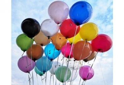 50 броя висококачествени латексови балони с хелий + безплатна доставка и аранжиране от Мечти от балони! - Снимка