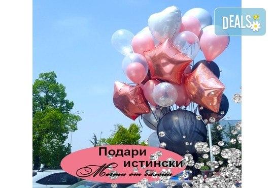 50 броя висококачествени латексови балони с хелий + безплатна доставка и аранжиране от Мечти от балони! - Снимка 2