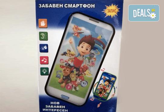 Детски смартфон Том или Калинката и черния котарак с български приказки и песни от Магнифико! - Снимка 1