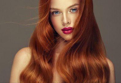 Нов цвят на косата! Боядисване с боя на клиента и оформяне на прическа със сешоар в салон Bibi Fashion! - Снимка