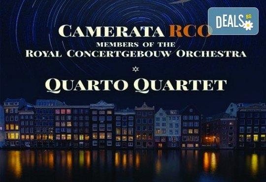 Кралския Концертгебау оркестър и Quarto Quartet, на 25.10. от 19 ч. в Зала България
