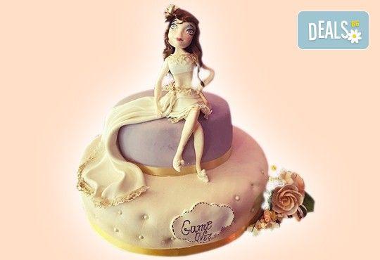 За Вашата сватба! Бутикова сватбена торта с АРТ декорация от Сладкарница Джорджо Джани! - Снимка 27