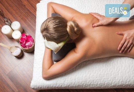 70-минутен комбиниран масаж на цяло тяло с релаксиращ и регенериращ ефект и натурални масла: кокос, какао, бадем в Масажно студио Теньо Коев! - Снимка 1