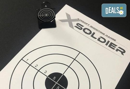 Стрелба с еърсофт боеприпаси, автомат или пистолет по избор и 3 вида мишени в Еърсофт стрелбище Xsoldier - Снимка 5