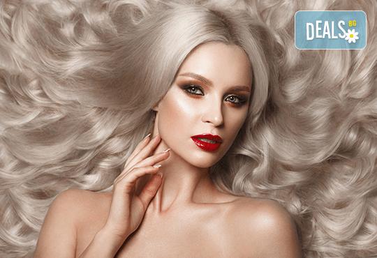 За празниците! Боядисване с боя на клиента, подстригване, арганова терапия Stapiz, заглаждащ флуид и прическа в Салон Blush Beauty - Снимка 1