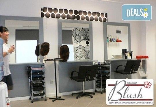 За празниците! Боядисване с боя на клиента, подстригване, арганова терапия Stapiz, заглаждащ флуид и прическа в Салон Blush Beauty - Снимка 5