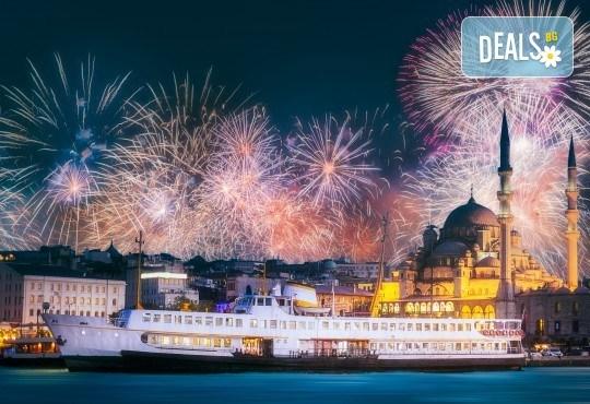 Приказна Нова година в Истанбул! 3 нощувки със закуски в хотел 2*/3*, Новогодишна гала вечеря на яхта по Босфора, транспорт и посещение на мол Forum - Снимка 1