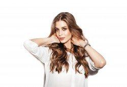 Нова прическа! Подстригване, арганова терапия, заглаждащ флуид и стилизиране на прическа при стилист на Салон Blush Beauty - Снимка