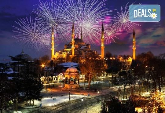 Лукс за Нова година в Hotel Istanbul Gonen 5*, Истанбул! 3 нощувки със закуски, транспорт, богата Новогодишна вечеря и посещение на Одрин - Снимка 1