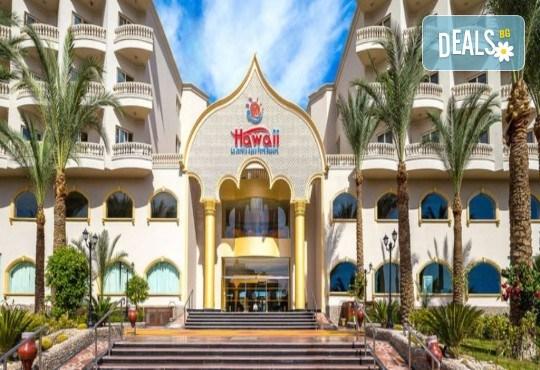 Почивка в Египет през есента! 7 нощувки на база All Inclusive в хотел Hawaii Le Jardain Aqua Park 5* в Хургада, самолетен билет с директен чартърен полет и трансфери - Снимка 2