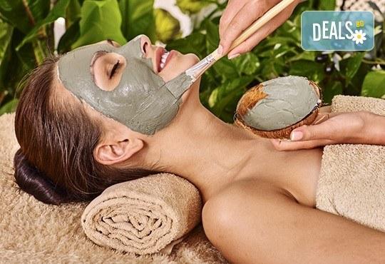 90-минутна грижа за лице, шия и деколте за хидратирана и ревитализирана кожа! Китайски масаж 36 движения и терапия с пилинг и маска по избор GreenHealth! - Снимка 1