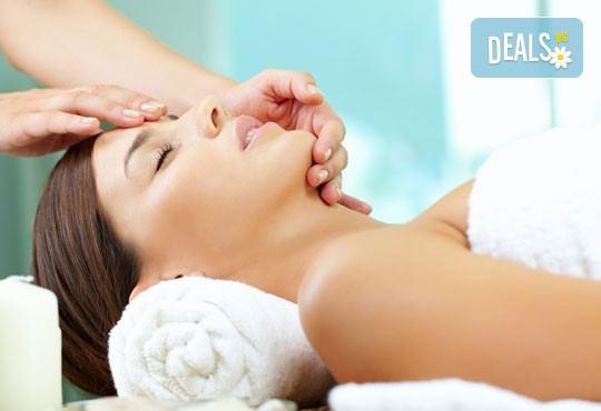 Поглезете кожата си! Стягащ и тонизиращ масаж на лице, скалп и деколте с шипково масло в масажно студио Спавел! - Снимка 3