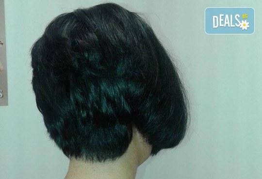 Боядисване с боя на клиента, подстригване, масажно измиване, кератинова терапия с продукти на Brave new hair и оформяне със сешоар в салон Феникс! - Снимка 5