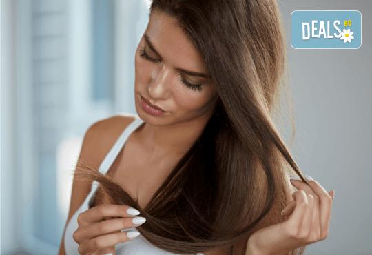 Полиране на коса и интензивна подхранваща терапия в три стъпки в Женско царство в Центъра или Студентски град - Снимка 2