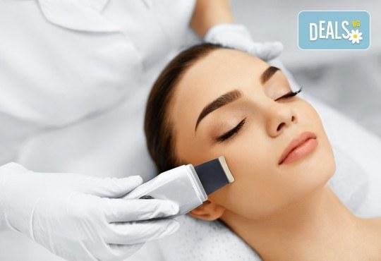 Почистване на лице с ултразвукова шпатула и радиочестотен лифтинг в