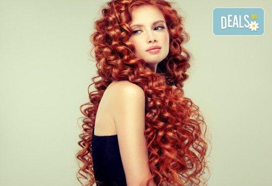 Поставяне на ред коса с капси с коса на клиента и подарък: оформяне със сешоар по избор от стилист на Салон Miss Beauty! - Снимка 3