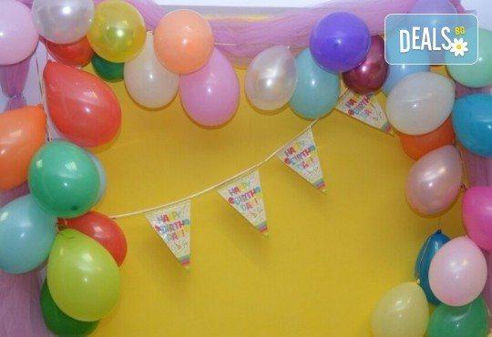 2 часа детски рожден ден за до 10 деца с включени меню, торта, аниматор, много музика и игри, пързалки, играчки, украса и фотозаснемане от Детски Парти Клуб Honey! - Снимка 5