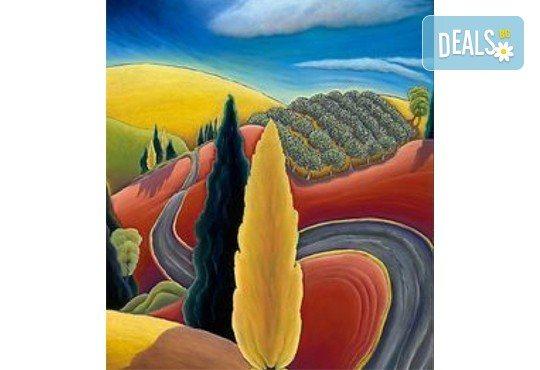 """""""Златна есен""""! 3 часа арт терапия на 27-ми октомври (неделя) - рисуване с акварел + чаша вино под инструкциите на професионален художник в Пух арт студио - Снимка 2"""