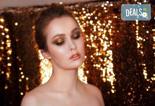 За зашеметяваща визия! Дневен или вечерен грим от професионален гримьор, с или без поставяне на мигли от Makeup by MM! - Снимка 4