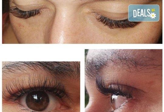Удължаване и сгъстяване на мигли по метода косъм по косъм или 3D обемна техника и 20% отстъпка от поддръжка в Angels Beauty! - Снимка 5