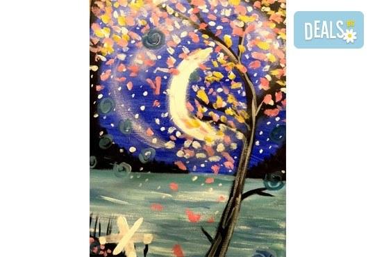 3 часа рисуване с напътствията на професионален художник + чаша вино в Арт ателие Багри и вино! - Снимка 4